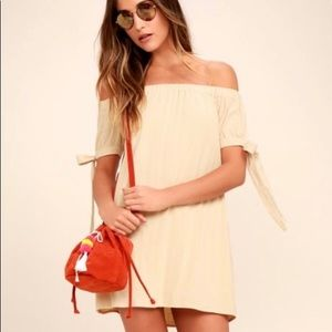 NWT Lulu's Off the Shoulder Dress